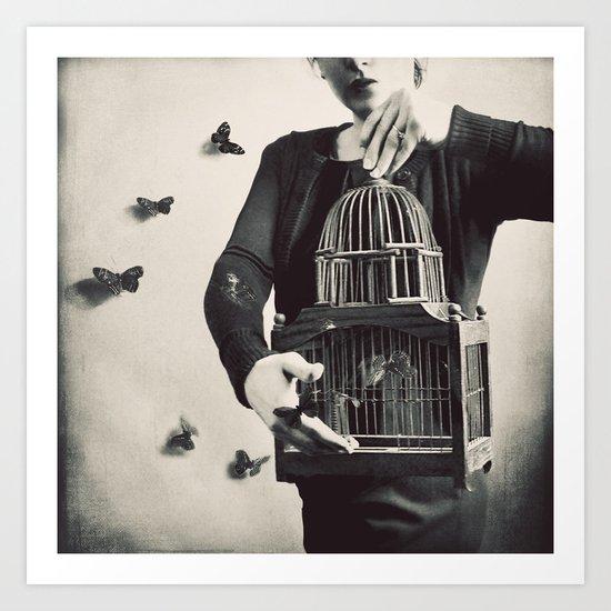 The Butterfly Releaser Art Print