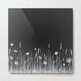 Gray Meadow Metal Print