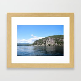 Roger's Rock on Lake George in the Adirondacks Framed Art Print