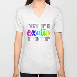 Exotic-rainbow Unisex V-Neck