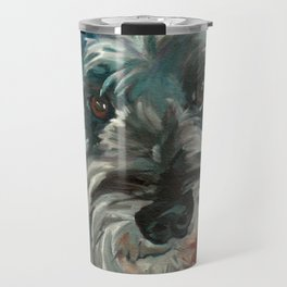 Schnauzer Dog Portrait Travel Mug