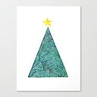 christmas tree Canvas Prints featuring Christmas tree by Bridget Davidson