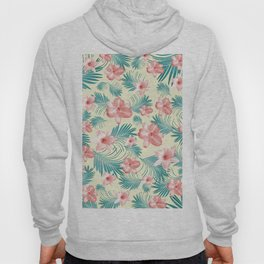 Tropical Flowers Palm Leaves Finesse #7 #tropical #decor #art #society6 Hoody