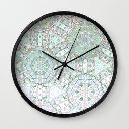 Mint Geometric Ombre Wall Clock