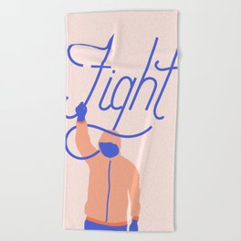 Fight Beach Towel