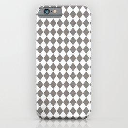 Frost Gray Modern Diamond Pattern iPhone Case
