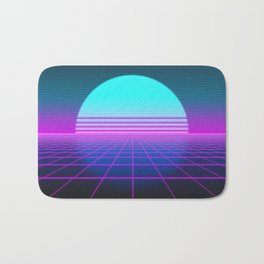 80's Retro Neon Grid Bath Mat