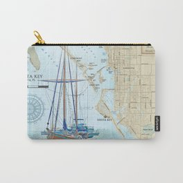 Sarasota and Siesta Key Nautical Area Map Carry-All Pouch