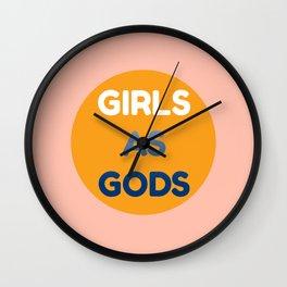 Girls as Gods Simple Design  Wall Clock