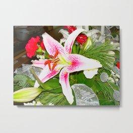 CUT FLOWERS. Metal Print