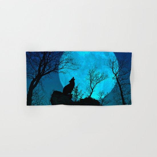 Howling wolf Hand & Bath Towel