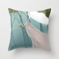 bride Throw Pillows featuring Bride by 7043
