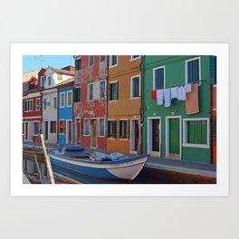 Burano Canals Art Print