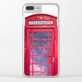 Telephone Box Portal London England Clear iPhone Case