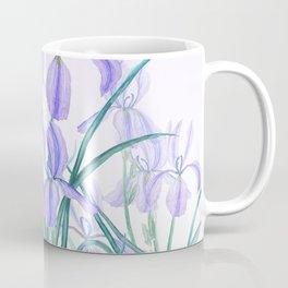 purple iris watercolor Coffee Mug