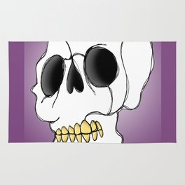 Skull - Side View Rug