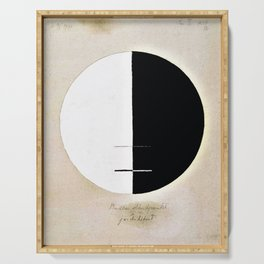 Hilma af Klint - Buddha's Standpoint in the Earthly Life, No. 3a, Series XI Serving Tray