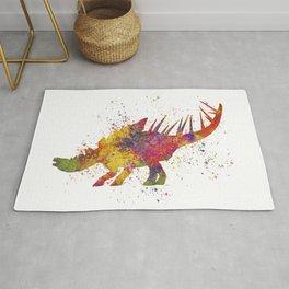 Kentrosaurus dinosaur in watercolor Rug