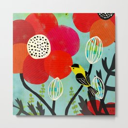 Flora and Fauna - Finch Metal Print