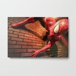 Waxy Spider-man Metal Print
