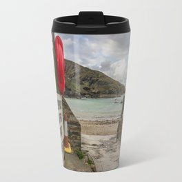 Port Isaac Harbour Travel Mug