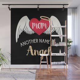 Mom, Another Name For Angel - Trendy Tattoo Heart Wings Wall Mural