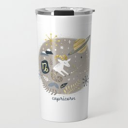 Capricorn Earth Travel Mug
