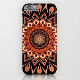 Boho Chic Rustic Orange Mandala iPhone Case