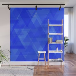 Gentle dark blue triangles in the intersection and overlay. Wall Mural