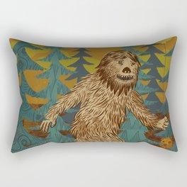 Bigfoot birthday card Rectangular Pillow