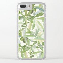 Fantasia foglie Clear iPhone Case