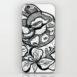 Python and iris flowers iPhone Skin