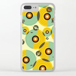 Turntables (Yellow) Clear iPhone Case