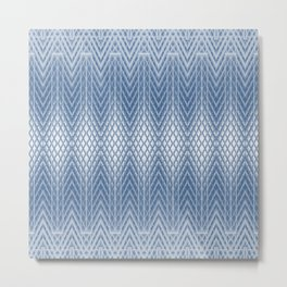 Icy Blue Frosted Relief Columns Metal Print
