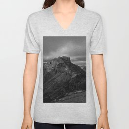 Top of Lost Mine Trail Mountaintop View, Big Bend - Landscape Photography Unisex V-Neck