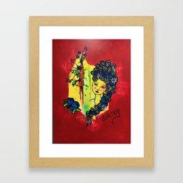 Bookend Beauty Framed Art Print