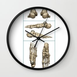 Bones of the Foot Wall Clock