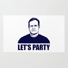 BILL BELICHICK LET'S PARTY Rug