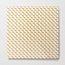 Hot-Dog Pattern Metal Print