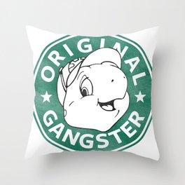 Franklin The Turtle - Starbucks Design Throw Pillow