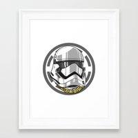 storm trooper Framed Art Prints featuring Storm Trooper by KODYMASON