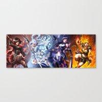 rwby Canvas Prints featuring RWBY by Quirkilicious