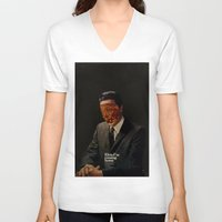 king V-neck T-shirts featuring King by Frank Moth