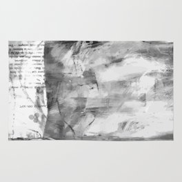 Triskelion Book Abstract Black and White by Ericka O'Rourke Rug