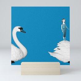 A Doll & Her Swan Mini Art Print