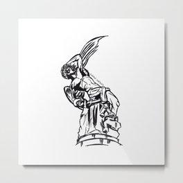 Angel Caido Metal Print
