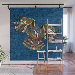 night owl blue Wall Mural