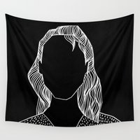 poker Wall Tapestries featuring Poker Face by Laura Moreau