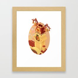 Twilight Tower (Kingdom Hearts) Isometric Art Framed Art Print