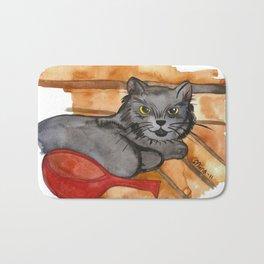 Cat in the Sauna Bath Mat